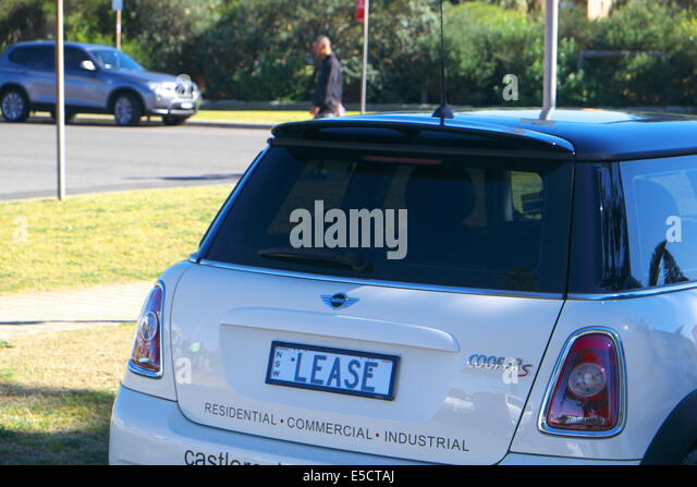 Lease Car Personalised Number Plate