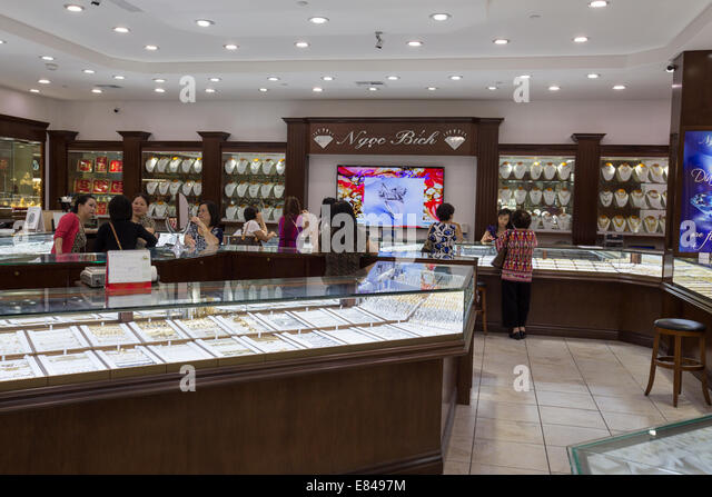 jewelry store in asian garden mall in the little saigon