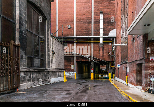 Montreal, Canada   May 26, 2017: Molson Beer Garage Entrance To Factory In