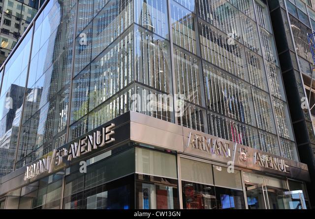 Armani new york stock photos armani new york stock for Armani store nyc