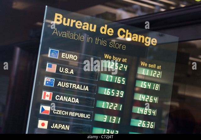 Commercial rates stock photos commercial rates stock - Post office bureau de change exchange rates ...