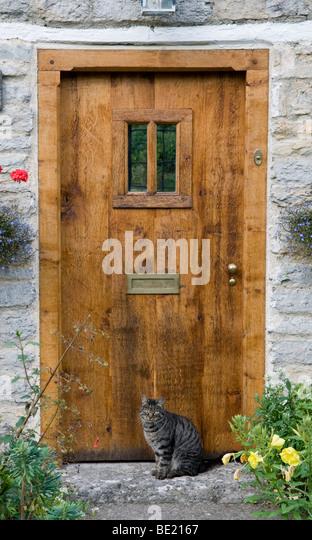 Front door country cottage door stock photos front door for Domestic front doors