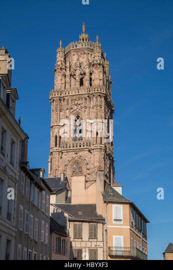 Notre-Dame Cathedral, 12th-16th century, Rodez, Aveyron, Languedoc-