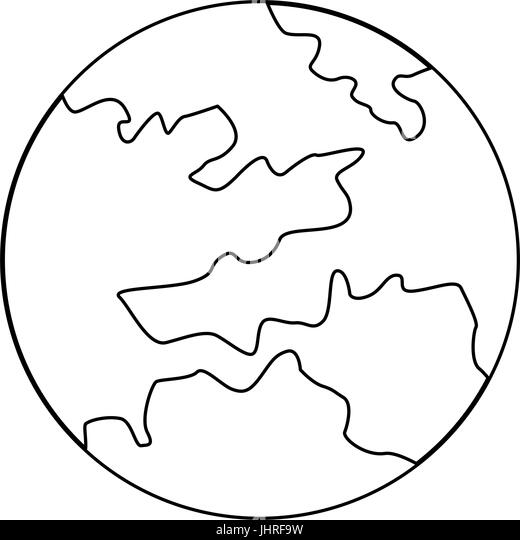 map global world earth round icon stock image
