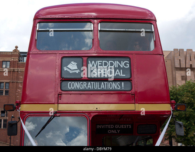 Double Decker Bus Used For Wedding London UK