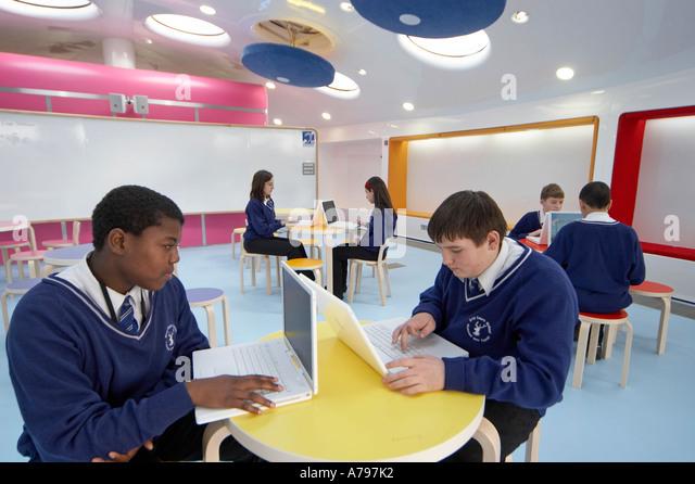 Modern Classroom Kids : Education uk modern students classroom stock photos