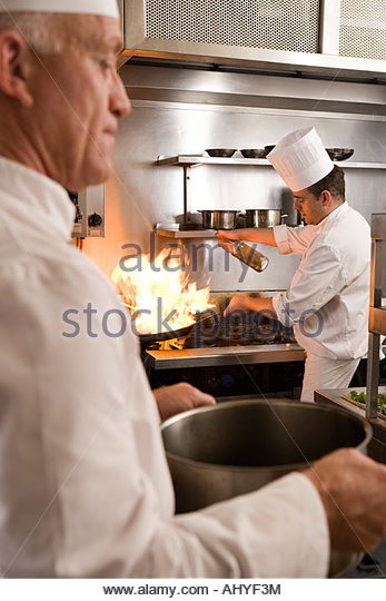 Kitchen Hobs Commercial ~ Stove pot flame stock photos