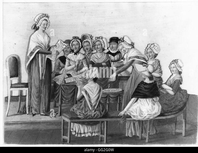 french school women stock photos french school women stock jean baptiste lesueur french school the patriotic women s club during the french revolution c