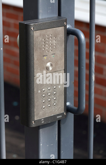 intercom for remote door release for gate entry system - Stock Image & Door Entry System Stock Photos \u0026 Door Entry System Stock Images - Alamy