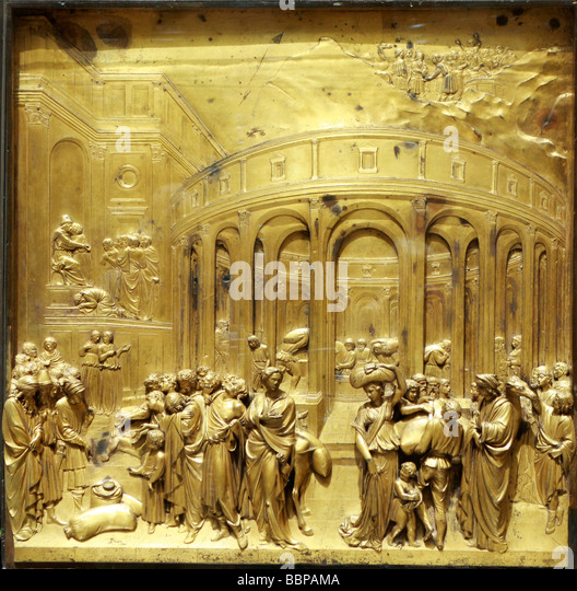 Ghiberti took 21 years to complete door panels of the Duomo Baptistry Florence depicting passages & Ghiberti Door Stock Photos \u0026 Ghiberti Door Stock Images - Alamy Pezcame.Com