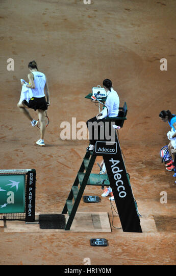 Umpire chair stock photos umpire chair stock images alamy for Chair of the fed game