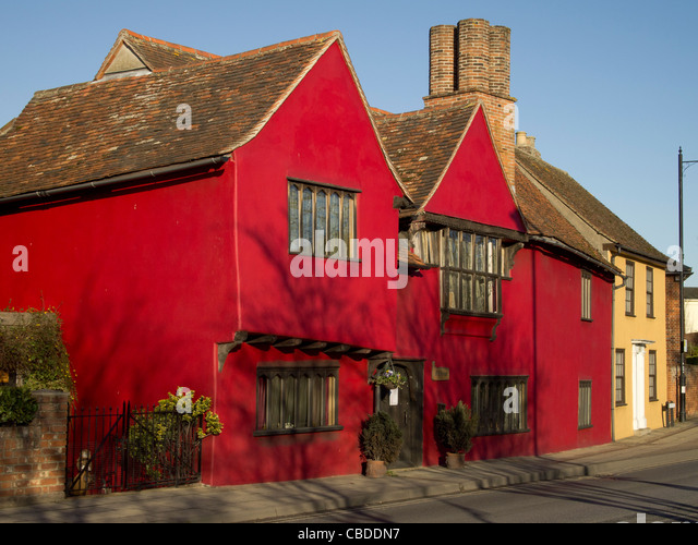 Attractive Mill House, A Large Red Painted Medieval House In Sudbury, Suffolk.,