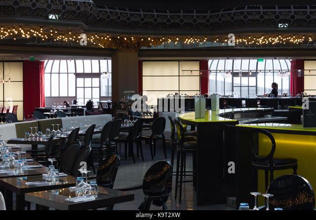 French brasserie restaurant stock photos french for Miroir restaurant paris menu