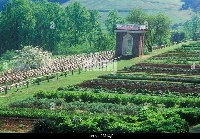 Monticello Thomas Jefferson Garden Stock Photos