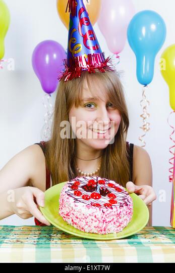 Beautiful Lady Birthday Cake Stock Photos Beautiful Lady