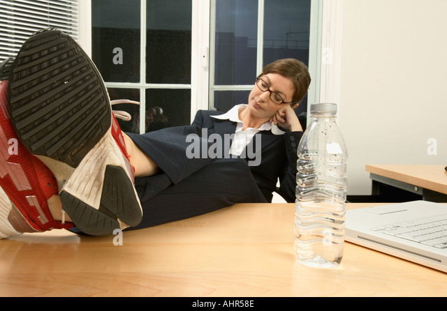 businesswoman sleeping in her office stock image business nap office relieve