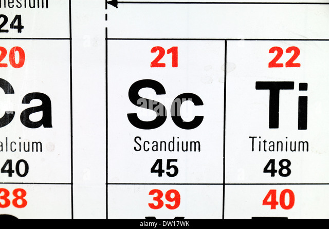 Relative atomic mass stock photos relative atomic mass stock scandium sc a rare earth element as it appears on the periodic urtaz Gallery
