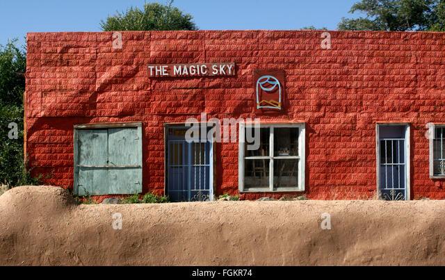 Shop in taos new mexico stock photos shop in taos new mexico stock the facade of the magic sky an abandoned shop in rancho de taos plaza publicscrutiny Gallery