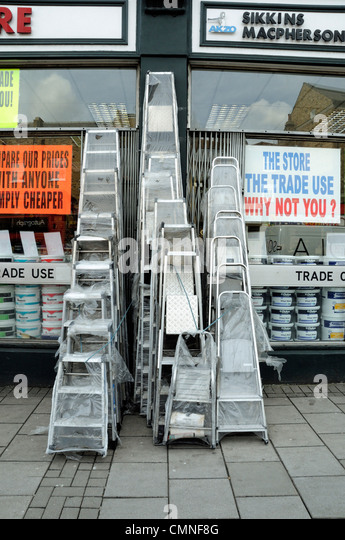 Do it yourself holloway road stock photos do it yourself holloway ladders for sale outside diy shop holloway road archway london england uk stock image solutioingenieria Images