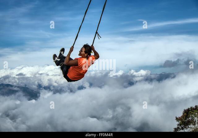 girl on swing above - photo #2