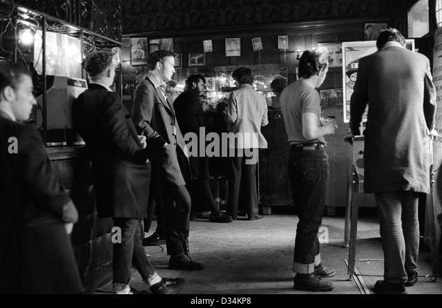 Teddy Boys Black And White Stock Photos & Images