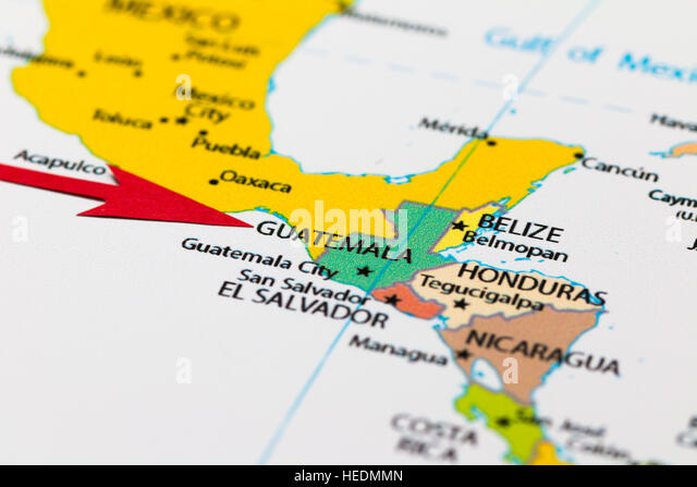Central And South America Map Stock Photos Central And South