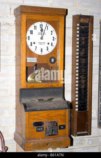 clock in out machine