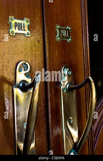 brass door handles stock photos brass door handles stock images