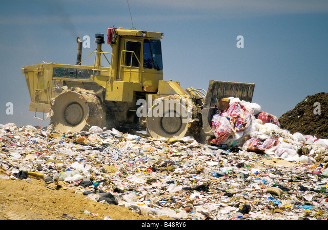 Landfills With Tractors : Landfill stock photos images alamy