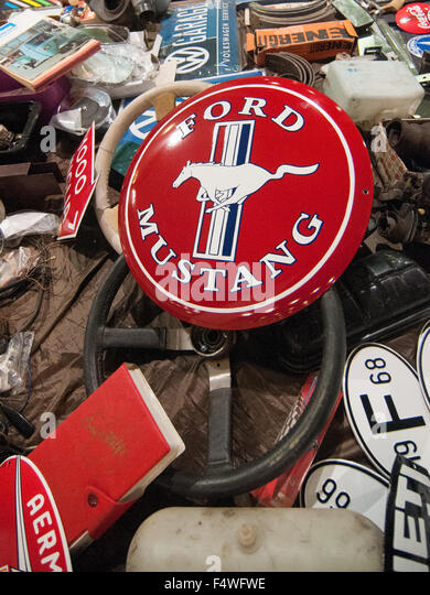ford mustang logo at the international exhibition of vintage motoring in europe padova italy - Ford Mustang Logo Images