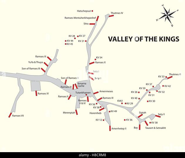 Map Egypt Stock Photos Map Egypt Stock Images Alamy - Map of egypt showing valley of the kings