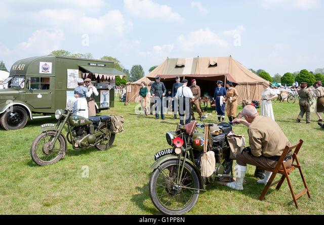 NAAFI World War II Display At Royal Windsor Horse Show Home Park