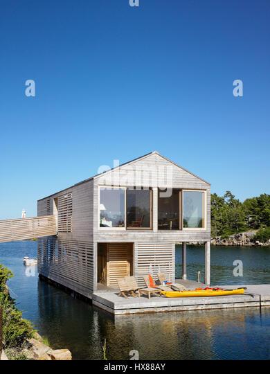 Great Floating House, Private Island, Georgian Bay, Lake Huron,