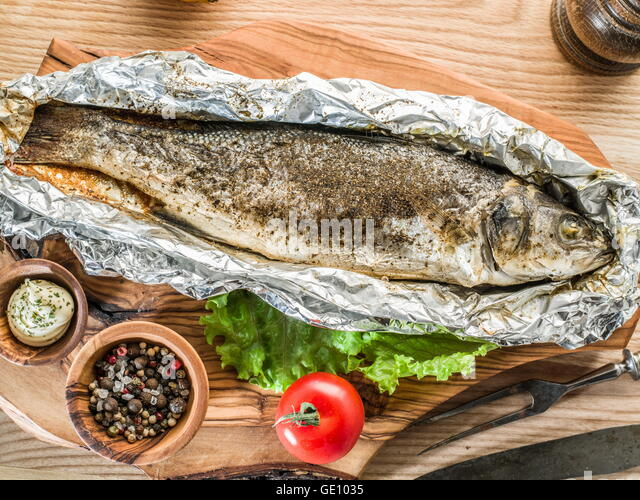 Grilled bass in foil for Grill fish in foil