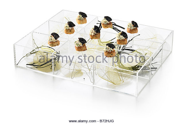 Oeuvers stock photos oeuvers stock images alamy for Canape trays