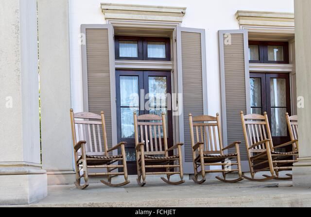 Rocking Chairs On The Front Porch, Main House, Mansion, Belle Meade  Plantation,