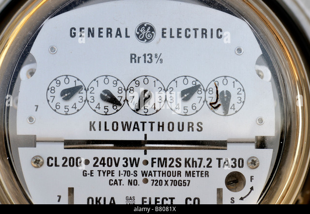 Residential Energy Meter : Kilowatt meter stock photos images