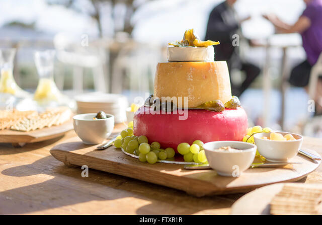 Cheese platter wedding stock photos cheese platter for Canape platters cape town