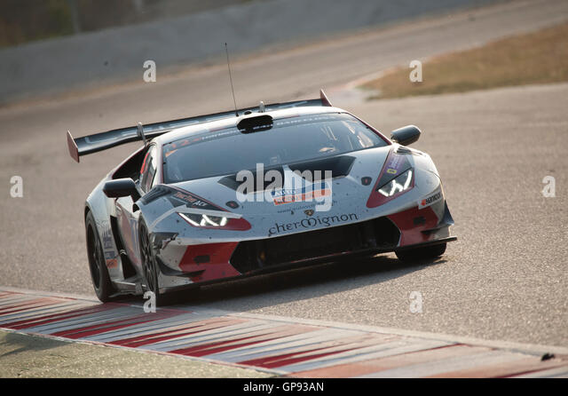 Barcelona, Spain. 3rd September, 2016. The Lamborghini Huracán Super Trofeo  Car Of