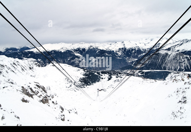 Courchevel Crhristmas Time Meribel Ski Resort Fun Stock Photos