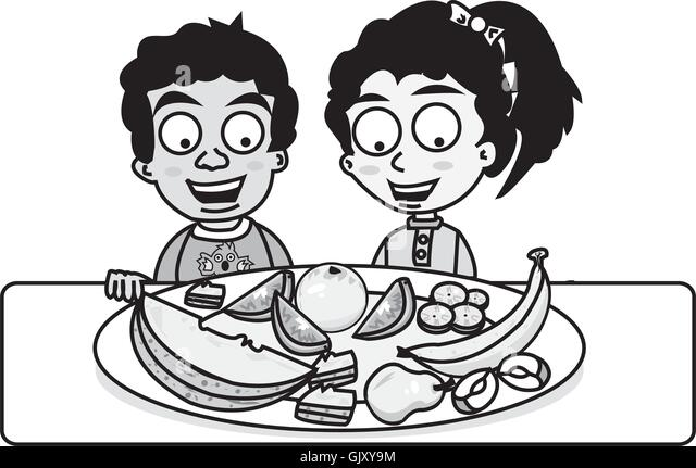 Ethnic Children Eating Healthy