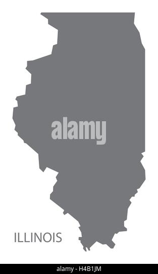 Illinois State Map Stock Photos Illinois State Map Stock Images - Illinois usa map