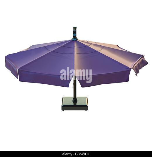 Patio Umbrella, Top View   Stock Image