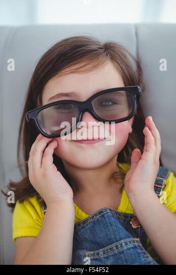 Girl Wearing 3d Glasses Stock Photos & Girl Wearing 3d ...