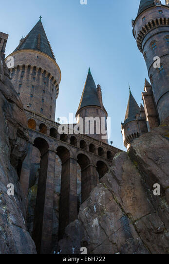 Spires And Towers Of Hogwarts Castle Rise To The Sky In Wizzarding World Harry