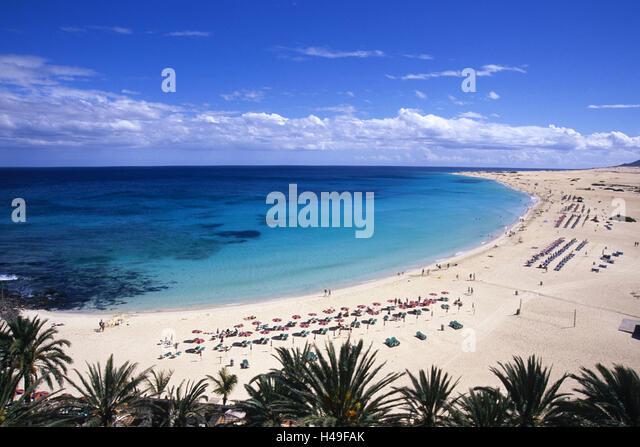 Spain Canary Islands Island Fuerteventura Corralejo Beach Sea Tourist