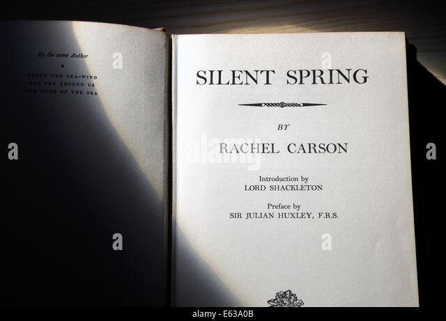 """a reflection of the book silent spring by rachel carson Silent spring silent spring began with a """"fable for tomorrow"""" – a true story using a composite of examples drawn from many real communities where the use of ddt had caused damage to wildlife, birds, bees, agricultural animals, domestic pets, and even humans carson used it as an introduction to a very scientifically complicated and already controversial subject."""