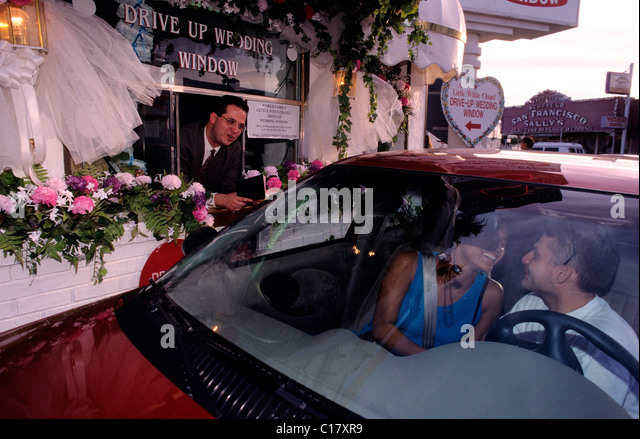 united states nevada las vegas drive thru wedding at little white chapel
