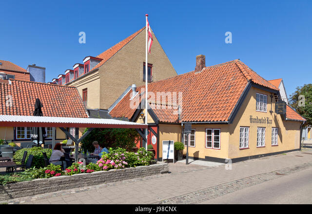 Hundested Inn and Hotel, Hundested Kro og Hotel, in Hundested n North Sealand - Stock Image