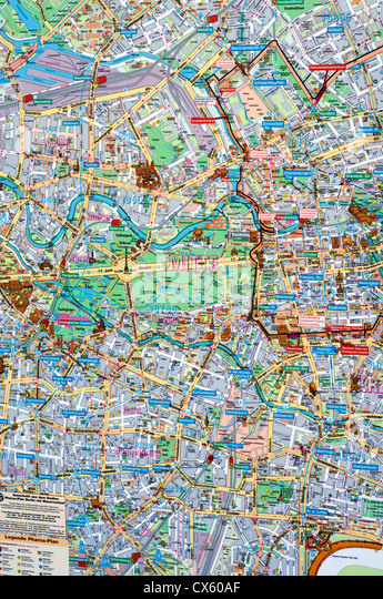 Germany Map City Stock Photos Germany Map City Stock Images Alamy - Map of berlin city centre